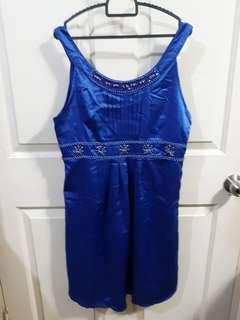 Cocktail dress - satin blue