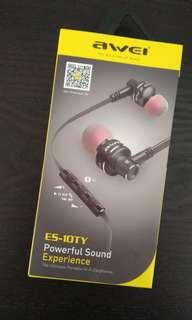 Awei ES-10TY earphones 黑色耳機