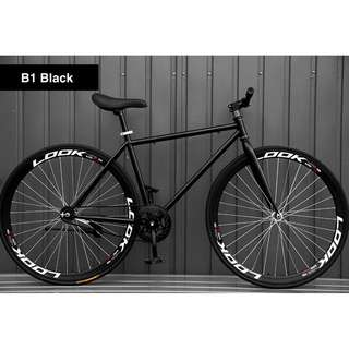 """*FreeDelivery/Gifts* 26"""" Black Frame And Black Rim Fixie With Black Tyre Coaster Brakes New"""