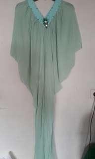Kaftan zalora hijau baju muslim