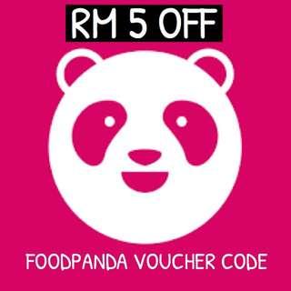RM5 OFF FOODPANDA