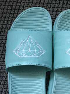 Ice teal Diamond slides
