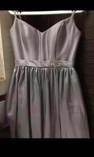 Silver evening dress (above knee)