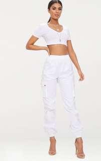 BNWOT White Cargo Pants