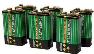 9V電池 綠色