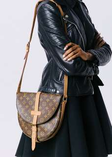 Authentic Vintage Louis Vuitton Chantilly GM Monogram Leather Crossbody Bag
