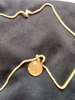 Solid 18k gold saudi gold necklace