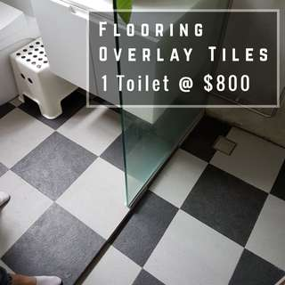 Toilet Overlay, Tiling Contractor