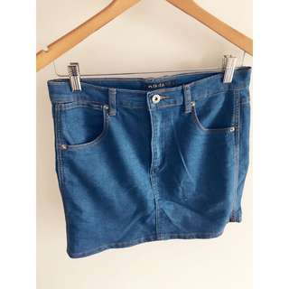 Denim mini skirt 10