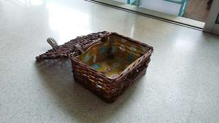 Small cute picnic basket or gift box