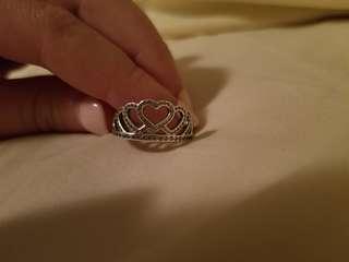 Crown Heart Pandora Ring