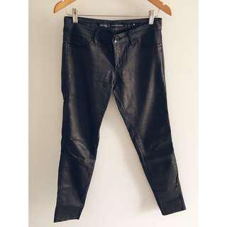 Black wet look jeans 9