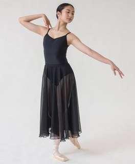 Sonata Long Circular Chiffon Skirt in Iris