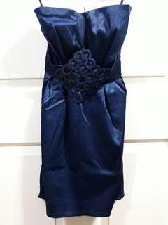 Tube Cocktail dress - navy blue