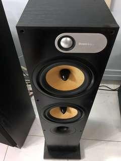 B&W 684 Pair Floor Standing Speakers(Rare Matt Black)