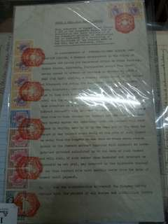 Singapore document stamp