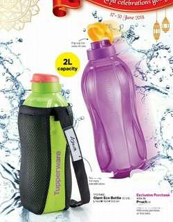 Tupperware Giant Eco Bottle (2) 2.0L