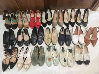 大量名牌鞋平售 高跟鞋 平底鞋 皮鞋 布鞋 漁夫鞋 toms soludoes Charles & Keith tory bruch high heels flat shoes
