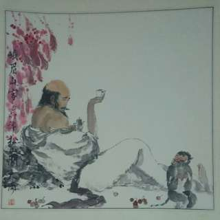 Chinese Painting #29 - Er Mei Shan Ker 49  x 53 cm
