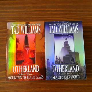 2 for $10: Otherland (Vol 3 & 4) By Tad Williams: Mountain of Black Glass; Sea of Silver Light