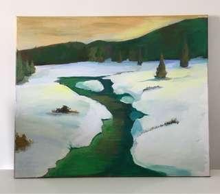 Acrylic paint - icy beauty