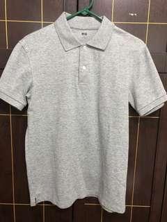Men's Uniqlo Grey Polo Shirt size medium