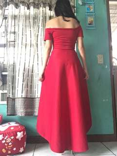 Long dress gown off shoulders