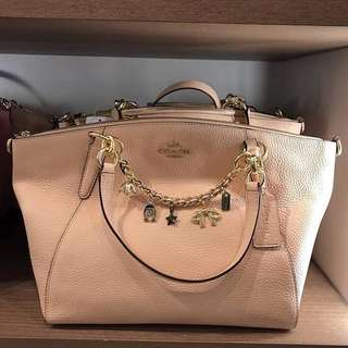 Coach Small Kelsey sz 25/33x25 Bracelets ornaments Nude Pink (bag charm is removable, can be used for other bags 😍)