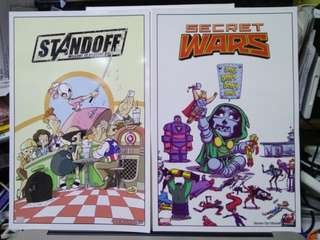 Secret Wars #1 Skottie Young and Standoff by Jay Fosgitt Promotional Card