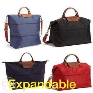 Longchamp Expandable Travel bag (original from Japan)
