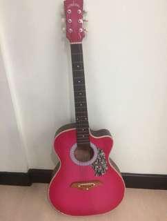 Lumanog Pink Acoustic Guitar