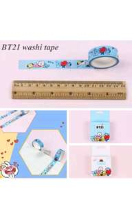 BTS BT21 Washi Tape (75%off) (Pre-order)
