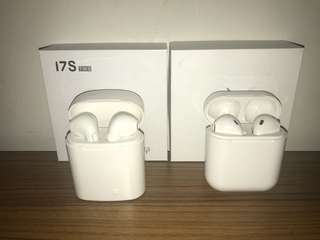 Apple AirPods Best Subsitude  i7S TWS Afans Earpieces - works on Bluetooth