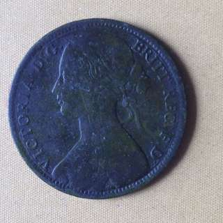 1863 GB Penny coin.