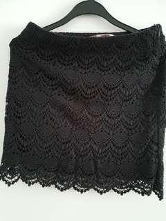 Love 21 Black Lace Skirt Size S