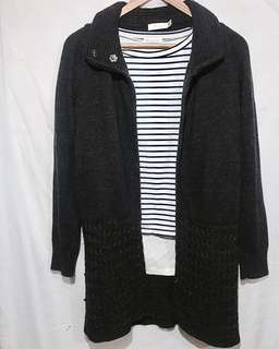 G2000Pink grey knitted cardigan