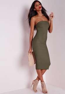 Bandage Bandeau Midi Dress Pretty Little Thing