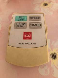 KDK fan remote