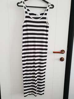 H&M striped maxi dress