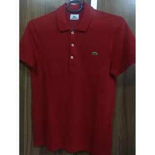 Lacoste LEGIT red polo shirt size 3