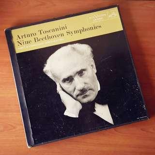 Arturo Toscanini: 9 Symphonies of Beethoven (7 Plakas / LP Records / Vinyls)
