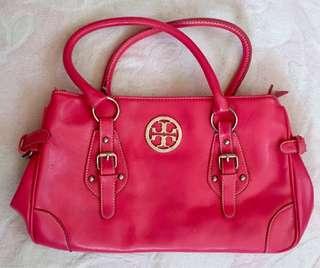 Tory Burch hot pink handbag