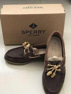 Sperry A/O 2-eye bling dark brown/gold