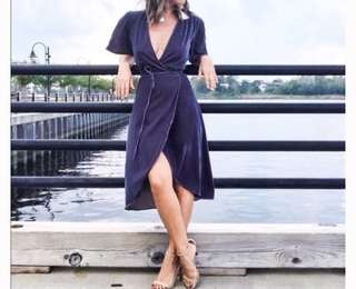 H&M Wrap Around Velvet Dress