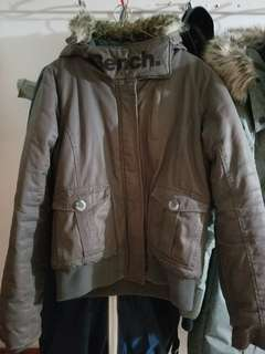 Bench gray winter coat used but lots of life left size large