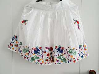 Twenty One White Skirt with Embroidery