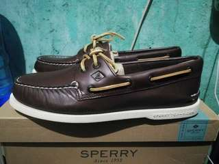 Sperry A/O 2-EYE Boat shoes (Brown) size 9