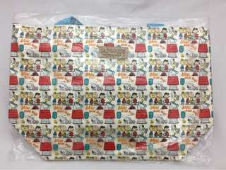 Brand New Peanuts Gang & Snoopy Tote Bag ~ Bright PVC Bag Handbag