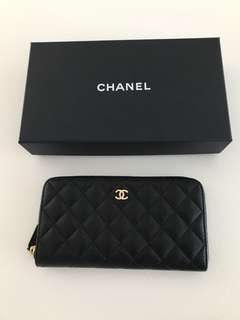 Chanel caviar long wallet 茘枝皮長銀包
