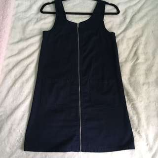 Navy blue pinafore
